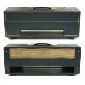Topbehuizing voor Plexi Kit 100Watt /150Watt Bass Black on Green