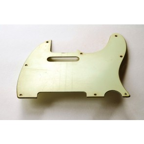 Pickguard Tele Real lIfe aged white, 3-laags