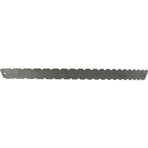 "Notched Straightedge - 16.5"" x 1.5"", Stainless Steel, Satin"