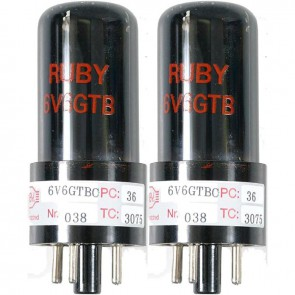 Ruby Tubes 6V6GTB Matched pair