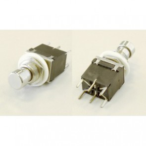 DPDT Push switch, metal, pc mount