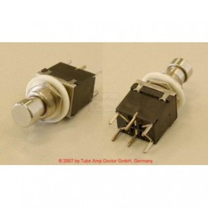 DPDT Momentary push switch, metal, pc mount