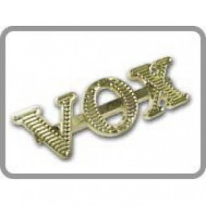 VOX Logo (AC 30 etc.), gold, horizontal