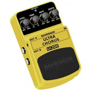Behringer Yellow Ultra Chorus Stomp Box UC200