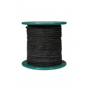 Cloth covered wire, vintage style, black, 18 gauge (1mm2), tinned stranded copper per meter