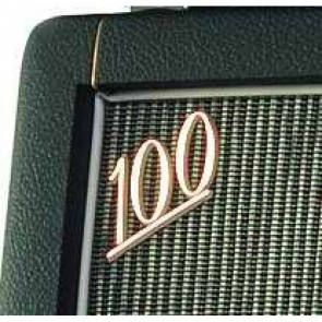 "Marshall® Logo, ""100"", white + gold face"