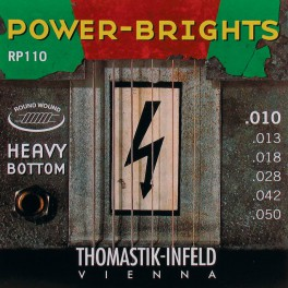 Thomastik Power Brights snarenset elektrisch, magnecore, 010-013-018-028-042-050