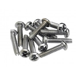 Fender Genuine Replacement Part pickup/selector switch mounting screws, Philips roundhead, chrome, 12 pcs
