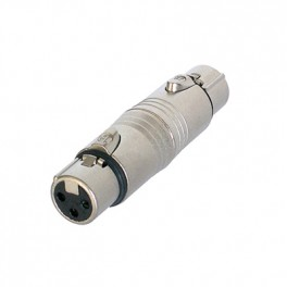 Neutrik grey NA3FF 3 pole XLR female To female