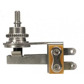 Switchcraft toggle switch 3-way angled, nickel, no cap, for thin body guitars (SG, Explorer, Firebird)
