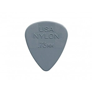 Dunlop Nylon Standard 0.73 mm. plectrums, nylon, grijs, 12-pack