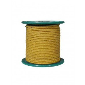Cloth covered wire, vintage style, yellow, 18 gauge (1mm2), tinned stranded copper per meter