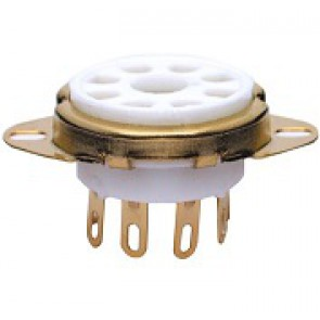 Socket 8 pin Gold Chassis, solid ring
